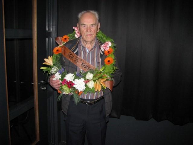 Willem vdMeulen met krans